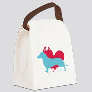 pawprints2 Canvas Lunch Bag