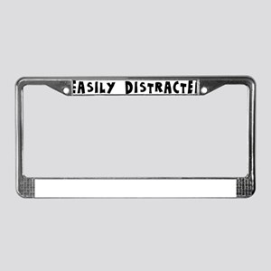 Easily Distracted License Plate Frame