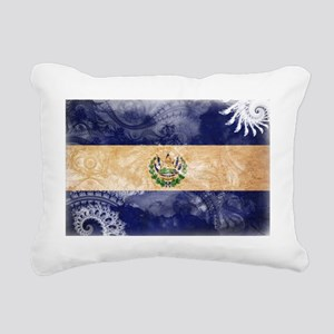 El Salvador textured Cra Rectangular Canvas Pillow