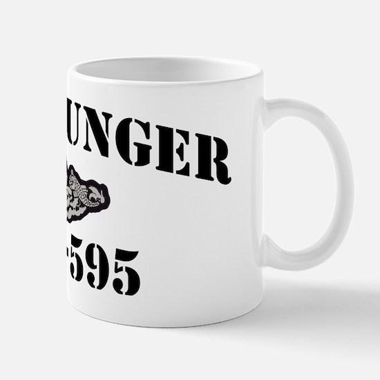 plunger black letters Mug