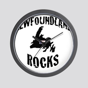 NEWFOUNDLAND ROCKS Wall Clock