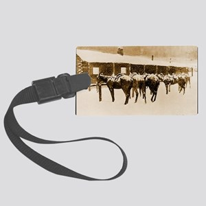 Cow Pony Pathos, 1897 Large Luggage Tag