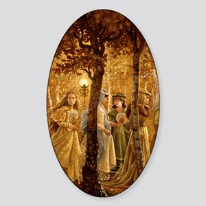 GoldenWood_IPAD2 Sticker (Oval)