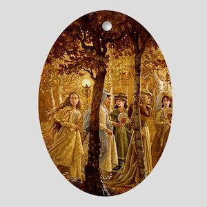 GoldenWood_IPAD2 Oval Ornament