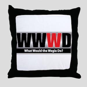 What Wegie Throw Pillow