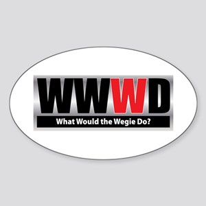 What Wegie Oval Sticker