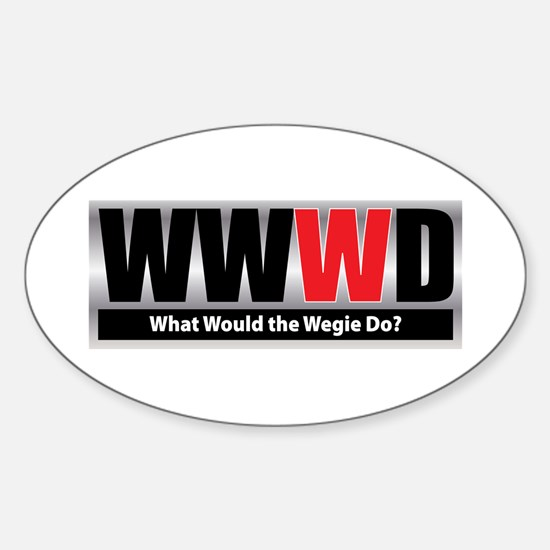 What Wegie Oval Decal