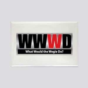 What Wegie Rectangle Magnet