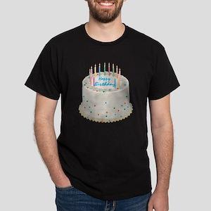 Happy Birthday Cake Dark T-Shirt