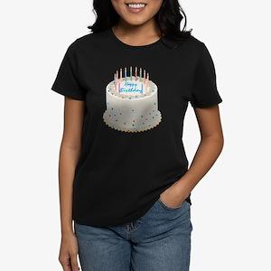 Happy Birthday Cake Women's Dark T-Shirt