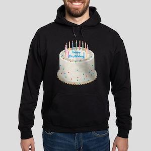 Happy Birthday Cake Hoodie (dark)