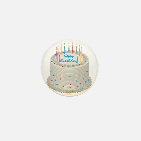 Happy Birthday Cake Mini Button