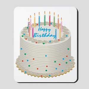 Happy Birthday Cake Mousepad