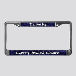 Funky Love Cherry Heade Conure License Plate Frame