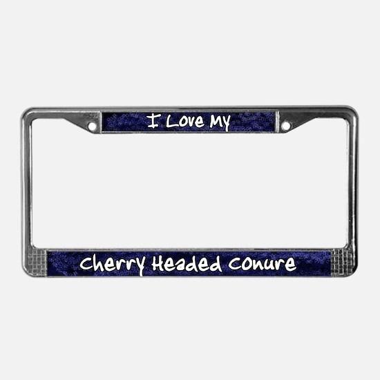 Funky Love Cherry Heade Conure License Plate Frame