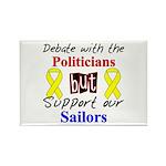 Debate Politicians Support our Sailors Rectangle