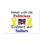 Debate Politicians Support our Sailors  Mini Poste