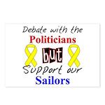 Debate Politicians Support our Sailors Postcards