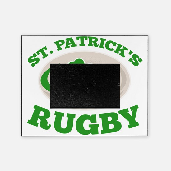 st. patricks rugby Picture Frame