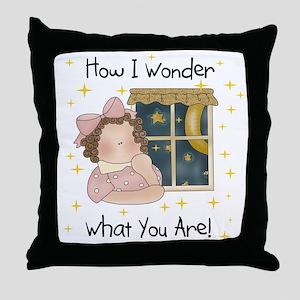 How I Wonder Throw Pillow