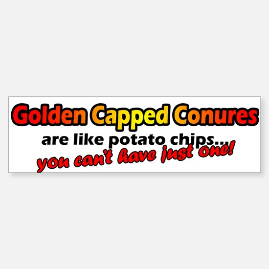 Potato Chips Golden Capped Conure Bumper Bumper Bumper Sticker