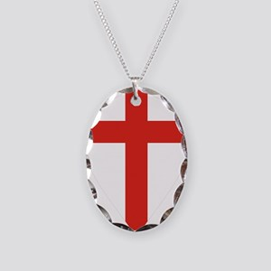 St George shield Necklace Oval Charm