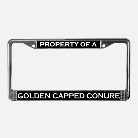 Property of Golden Capped Conure License Frame