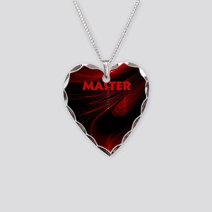 bondage black and red Master Necklace Heart Charm