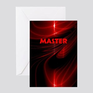 bondage black and red Master Greeting Card