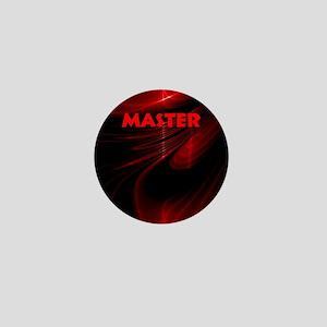 bondage black and red Master Mini Button
