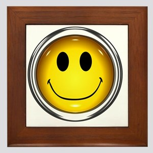 z-button-smiley Framed Tile