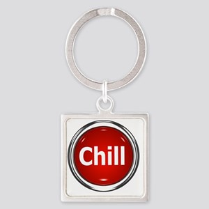 z-button-chill Square Keychain