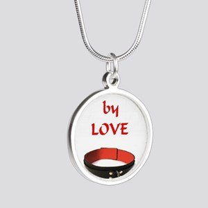 bondage bound by love Silver Round Necklace