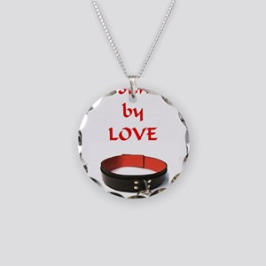 bondage bound by love Necklace Circle Charm