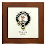 Scottish family badge Framed Tiles