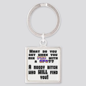 PMS-GPS-trans1 Square Keychain