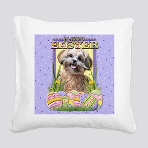 EasterEggCookiesShihPooCP Square Canvas Pillow