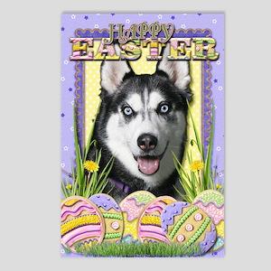 EasterEggCookiesSiberianH Postcards (Package of 8)