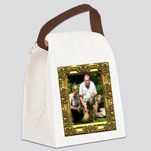 Custom gold baroque framed photo Canvas Lunch Bag