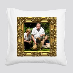 Custom gold baroque framed photo Square Canvas Pil