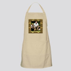 Custom gold baroque framed photo Apron