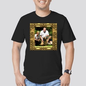 Custom gold baroque framed photo Men's Fitted T-Sh