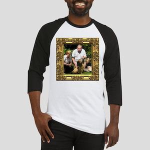 Custom gold baroque framed photo Baseball Jersey
