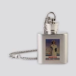 Navy Nurse Flask Necklace