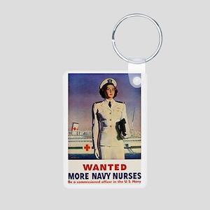 Navy Nurse Aluminum Photo Keychain
