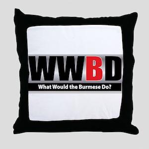 What Burmese Throw Pillow