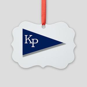 KP Birgie (Black Background) Picture Ornament