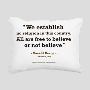 Reagan Establish No Reli Rectangular Canvas Pillow