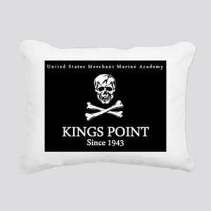 USMMA Jolly Roger Rectangular Canvas Pillow