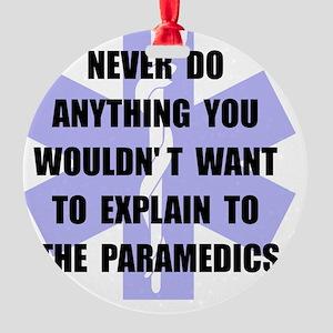 Paramedics Black Round Ornament
